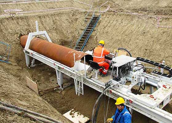 Bohrtec manufactures machines for guided auger boring
